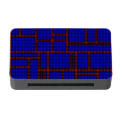 Line Plaid Red Blue Memory Card Reader With Cf by Mariart