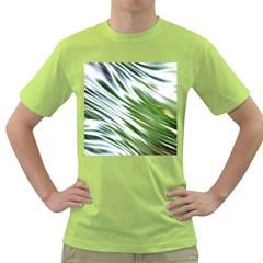 Fluorescent Flames Background Light Effect Abstract Green T Shirt