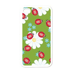 Insect Flower Floral Animals Star Green Red Sunflower Apple Iphone 4 Case (white) by Mariart
