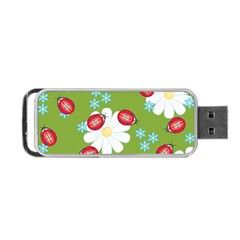 Insect Flower Floral Animals Star Green Red Sunflower Portable Usb Flash (two Sides) by Mariart