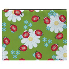 Insect Flower Floral Animals Star Green Red Sunflower Cosmetic Bag (xxxl)  by Mariart