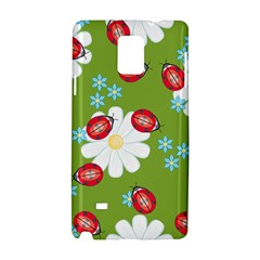 Insect Flower Floral Animals Star Green Red Sunflower Samsung Galaxy Note 4 Hardshell Case by Mariart
