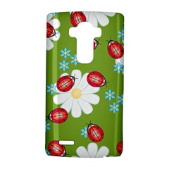 Insect Flower Floral Animals Star Green Red Sunflower Lg G4 Hardshell Case by Mariart