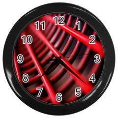 Abstract Of A Red Metal Chair Wall Clocks (black) by Nexatart