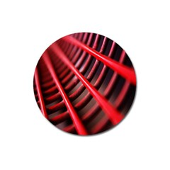 Abstract Of A Red Metal Chair Magnet 3  (round) by Nexatart