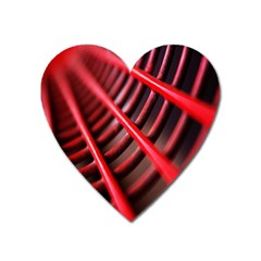 Abstract Of A Red Metal Chair Heart Magnet by Nexatart