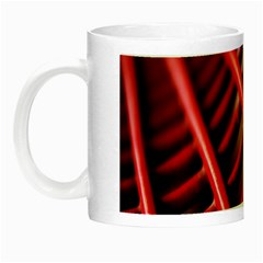 Abstract Of A Red Metal Chair Night Luminous Mugs by Nexatart