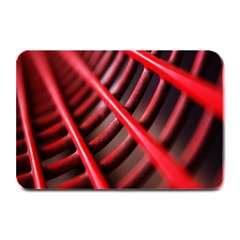Abstract Of A Red Metal Chair Plate Mats by Nexatart