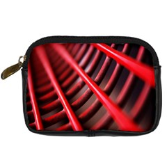 Abstract Of A Red Metal Chair Digital Camera Cases by Nexatart