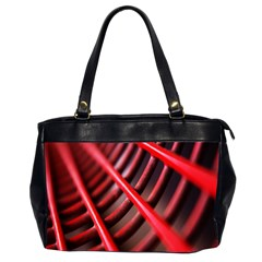 Abstract Of A Red Metal Chair Office Handbags (2 Sides)  by Nexatart