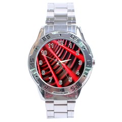 Abstract Of A Red Metal Chair Stainless Steel Analogue Watch