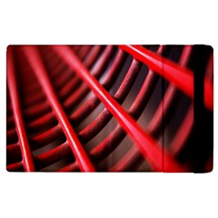 Abstract Of A Red Metal Chair Apple Ipad 2 Flip Case by Nexatart