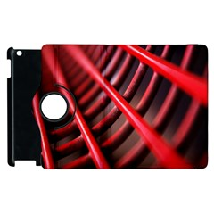 Abstract Of A Red Metal Chair Apple Ipad 2 Flip 360 Case by Nexatart