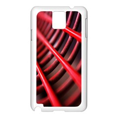 Abstract Of A Red Metal Chair Samsung Galaxy Note 3 N9005 Case (white) by Nexatart