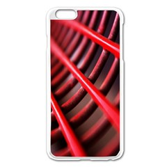 Abstract Of A Red Metal Chair Apple Iphone 6 Plus/6s Plus Enamel White Case by Nexatart