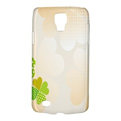 Leaf Polka Dot Green Flower Star Galaxy S4 Active by Mariart