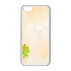 Leaf Polka Dot Green Flower Star Apple Iphone 5c Seamless Case (white) by Mariart