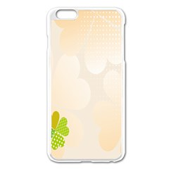 Leaf Polka Dot Green Flower Star Apple Iphone 6 Plus/6s Plus Enamel White Case by Mariart
