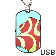Make Bedroom Unique Dog Tag Usb Flash (two Sides) by Mariart
