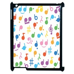 Musical Notes Apple Ipad 2 Case (black) by Mariart