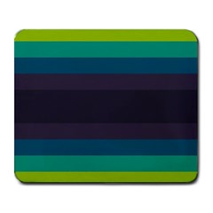 Neon Stripes Line Horizon Color Rainbow Yellow Blue Purple Black Large Mousepads by Mariart