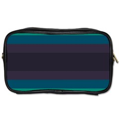 Neon Stripes Line Horizon Color Rainbow Yellow Blue Purple Black Toiletries Bags by Mariart