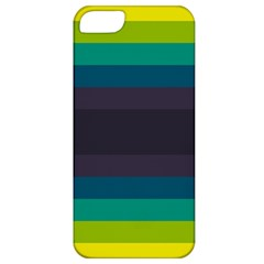 Neon Stripes Line Horizon Color Rainbow Yellow Blue Purple Black Apple Iphone 5 Classic Hardshell Case by Mariart