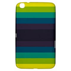 Neon Stripes Line Horizon Color Rainbow Yellow Blue Purple Black Samsung Galaxy Tab 3 (8 ) T3100 Hardshell Case  by Mariart