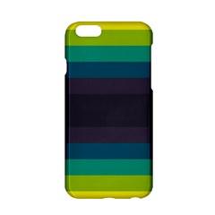 Neon Stripes Line Horizon Color Rainbow Yellow Blue Purple Black Apple Iphone 6/6s Hardshell Case by Mariart