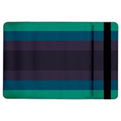 Neon Stripes Line Horizon Color Rainbow Yellow Blue Purple Black Ipad Air 2 Flip by Mariart