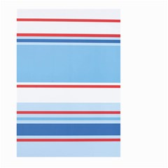 Navy Blue White Red Stripe Blue Finely Striped Line Large Garden Flag (two Sides) by Mariart