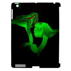 Neon Green Resolution Mushroom Apple Ipad 3/4 Hardshell Case (compatible With Smart Cover) by Mariart