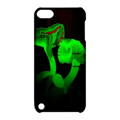 Neon Green Resolution Mushroom Apple iPod Touch 5 Hardshell Case with Stand