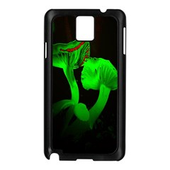 Neon Green Resolution Mushroom Samsung Galaxy Note 3 N9005 Case (black) by Mariart