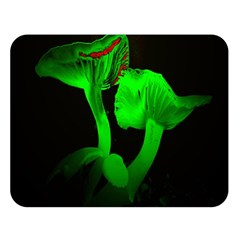Neon Green Resolution Mushroom Double Sided Flano Blanket (large)  by Mariart