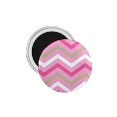 Pink Red White Grey Chevron Wave 1 75  Magnets by Mariart