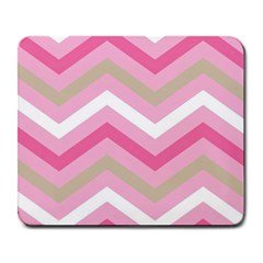 Pink Red White Grey Chevron Wave Large Mousepads by Mariart