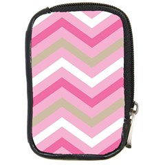 Pink Red White Grey Chevron Wave Compact Camera Cases by Mariart