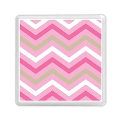 Pink Red White Grey Chevron Wave Memory Card Reader (square)  by Mariart