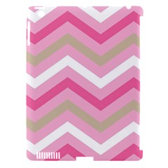 Pink Red White Grey Chevron Wave Apple Ipad 3/4 Hardshell Case (compatible With Smart Cover) by Mariart
