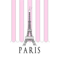 Pink Paris Eiffel Tower Stripes France 5 5  X 8 5  Notebooks by Mariart