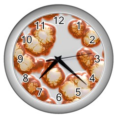 Abstract Texture A Completely Seamless Tile Able Background Design Wall Clocks (silver)  by Nexatart