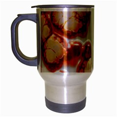 Abstract Texture A Completely Seamless Tile Able Background Design Travel Mug (silver Gray) by Nexatart