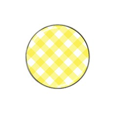 Plaid Chevron Yellow White Wave Hat Clip Ball Marker by Mariart