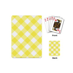 Plaid Chevron Yellow White Wave Playing Cards (mini)  by Mariart