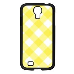 Plaid Chevron Yellow White Wave Samsung Galaxy S4 I9500/ I9505 Case (black) by Mariart