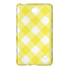 Plaid Chevron Yellow White Wave Samsung Galaxy Tab 4 (8 ) Hardshell Case  by Mariart