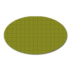 Royal Green Vintage Seamless Flower Floral Oval Magnet by Mariart