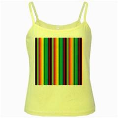 Multi Colored Colorful Bright Stripes Wallpaper Pattern Background Yellow Spaghetti Tank