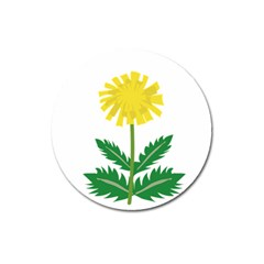 Sunflower Floral Flower Yellow Green Magnet 3  (round) by Mariart